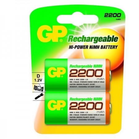 GP NiMH góliát akkumulátor (D) 2200mAh 2db-os
