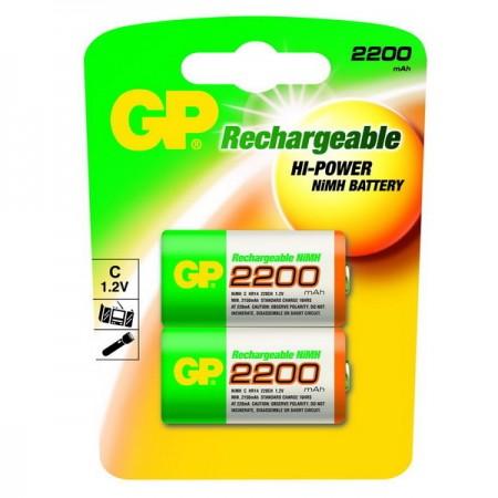 GP NiMH baby akkumulátor (C) 2200mAh 2db-os