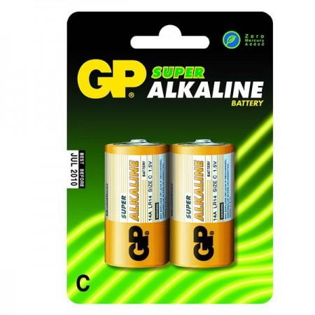 GP Super alkáli baby elem (C) 14A 2db-os