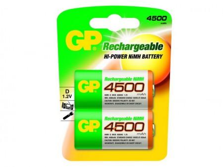 GP NiMH góliát akkumulátor (D) 4500mAh 2db-os