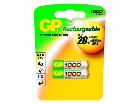 GP NiMH mikroceruza akkumulátor (AAA) 1000mAh 2db-os